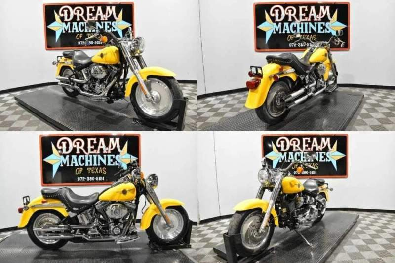 2001 Harley-Davidson FLSTF - Softail Fat Boy Yellow for sale