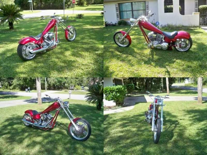 2005 American Ironhorse texas chopper Red for sale