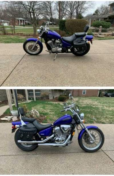 2005 Honda Shadow VLX Deluxe Blue for sale craigslist photo