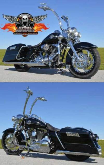 2009 Harley-Davidson ROAD KING ABS $12,500 in EXTRAS! ONLY 2,301 miles Vivid Black & Chrome for sale craigslist photo