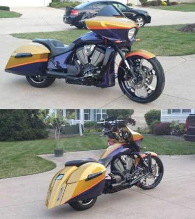 2010 Victory cross country Gold for sale craigslist photo