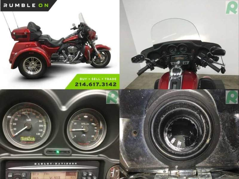 2012 Harley-Davidson FLHTCUTG TRIGLIDE ULTRA CLASSIC CALL (877) 8-RUMBLE Red for sale craigslist