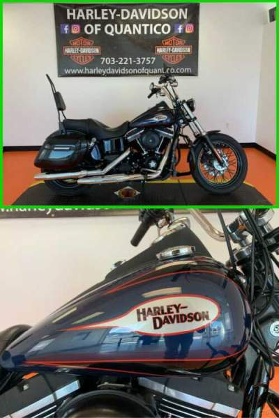2013 Harley-Davidson Dyna Street Bob Big Blue Pearl / Vivid Black for sale