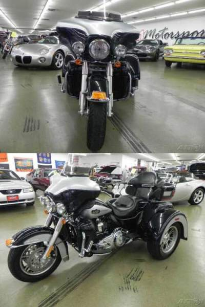 2013 Harley-Davidson Touring TriGlide Ultra Classic Metallic Black / Silver for sale craigslist