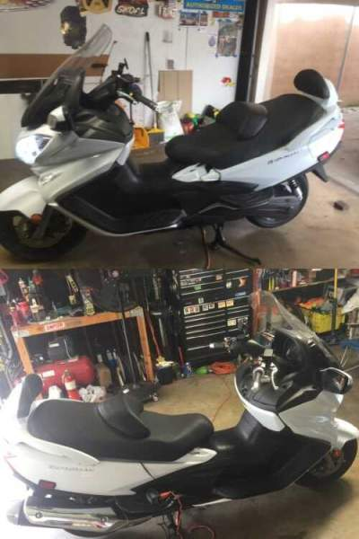 2013 Suzuki Suzuki Burgman 650 White for sale