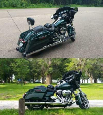 2015 Harley-Davidson Touring Deep Emerald Green for sale