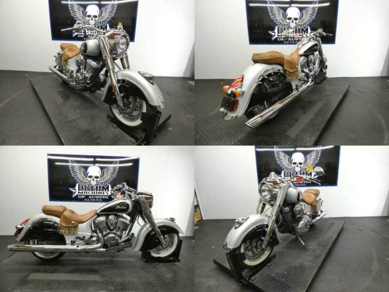 2016 Indian Chief Vintage Star Silver and Thunder Black Silver for sale