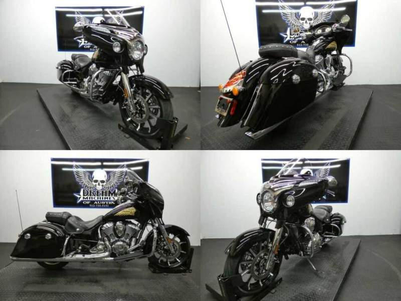 2016 Indian Chieftain Thunder Black Black for sale craigslist photo
