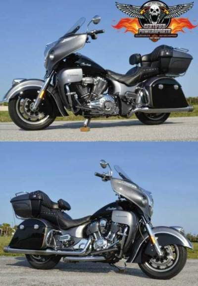 2016 Indian ROADMASTER THUNDER $4,500 UPGRADES 2 TONE STEEL SILVER GRAY PEARL & THUNDER BLACK for sale
