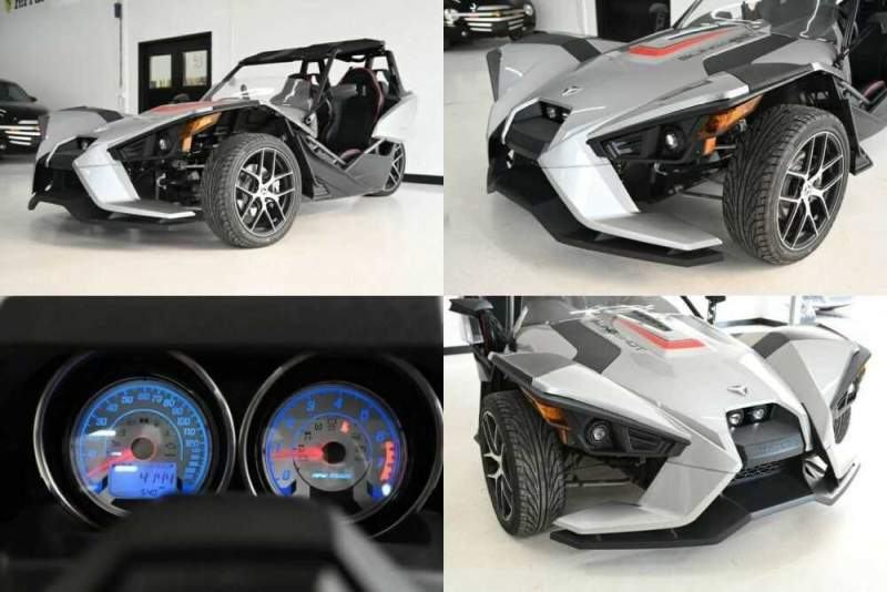 2016 Polaris SLINGSHOT SL Silver for sale craigslist photo