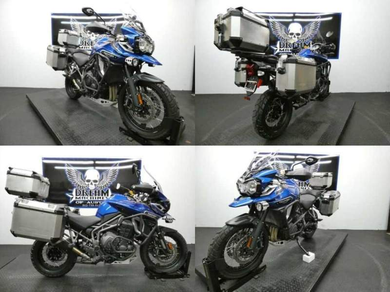 2017 Triumph Tiger Explorer XCX LucerneBlue Blue for sale craigslist