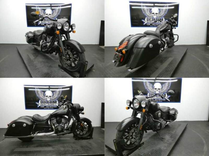 2018 Indian Springfield Dark Horse ABS Thunder Black Smoke Black for sale craigslist