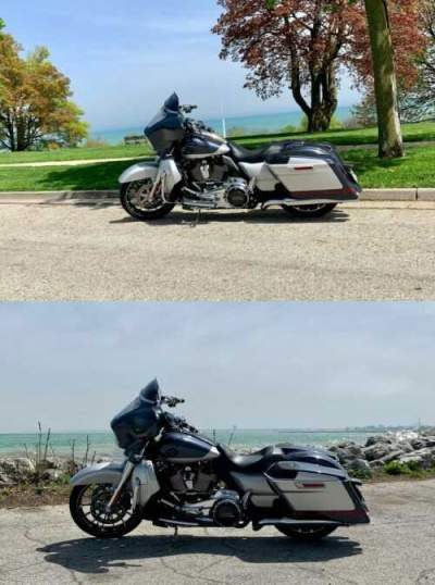2019 Harley-Davidson FLHXSE - Screamin Eagle Street Glide CVO Charred Steel / Lightning Silver for sale