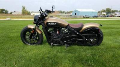 2019 Indian Scout® Bobber Icon Series Deep Brass Smoke Brass smoke for sale