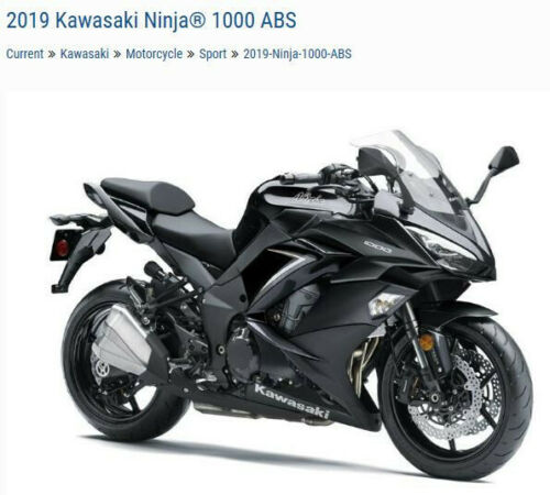 2019 Kawasaki Ninja ZX1000WKF Black for sale