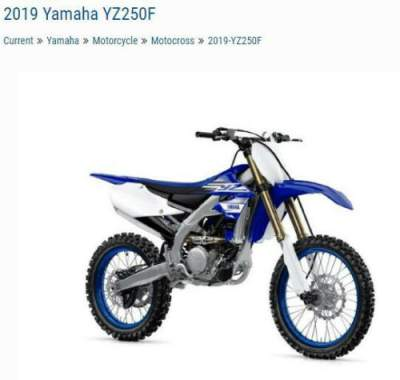 2019 Yamaha YZ250F YZ250FKL Blue for sale