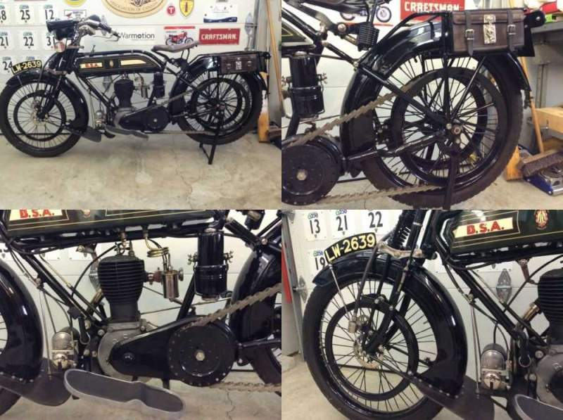 1918 BSA Model K Green for sale craigslist photo