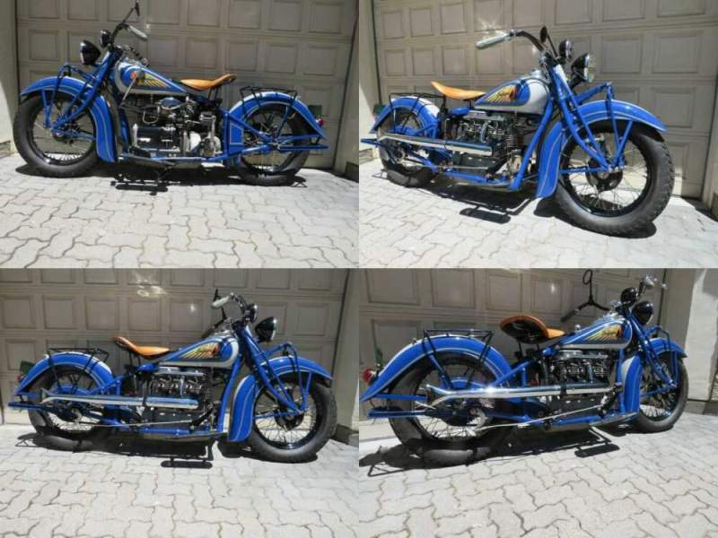 1938 Indian Indian Four Blue & Gray for sale craigslist photo