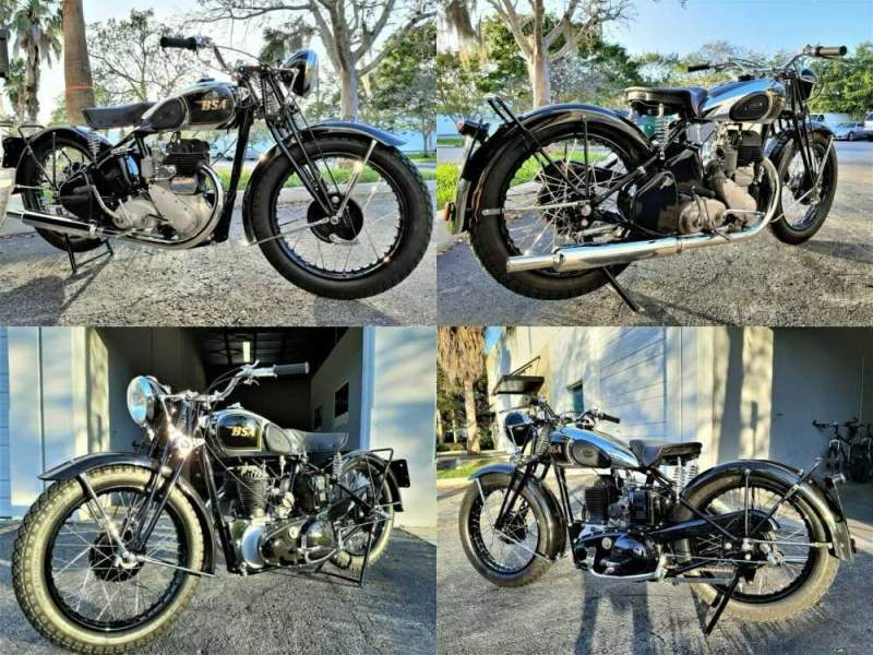 1944 BSA M20 Black for sale craigslist photo