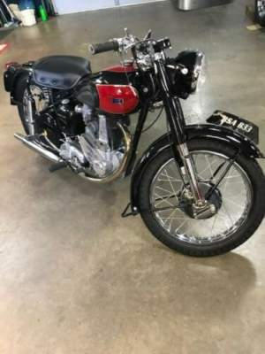 1953 BSA B33 black/red for sale craigslist photo