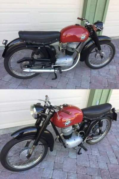 1954 MV Agusta Turismo Rapido 125 Red for sale craigslist photo