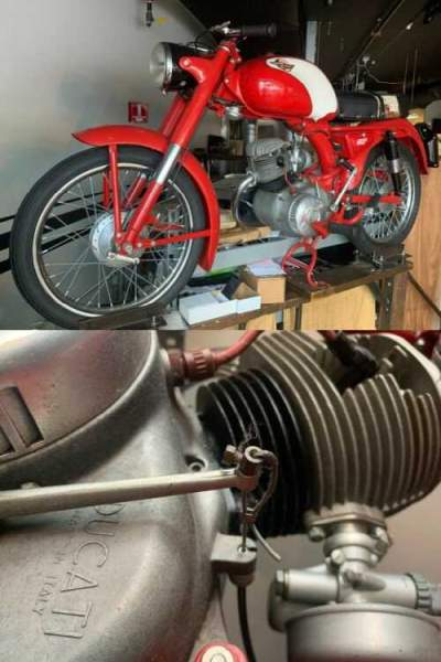 1956 Ducati TL 98 CC Red for sale craigslist photo