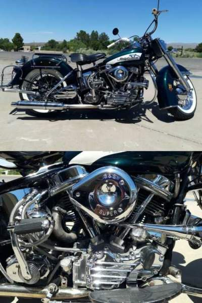 1956 Harley-Davidson FLH Green for sale craigslist photo