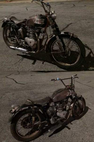 1956 Triumph Trophy Black for sale craigslist photo