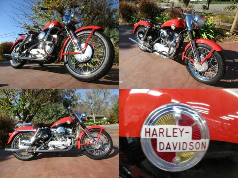 1957 Harley-Davidson Sportster Pepper Red and Black for sale craigslist
