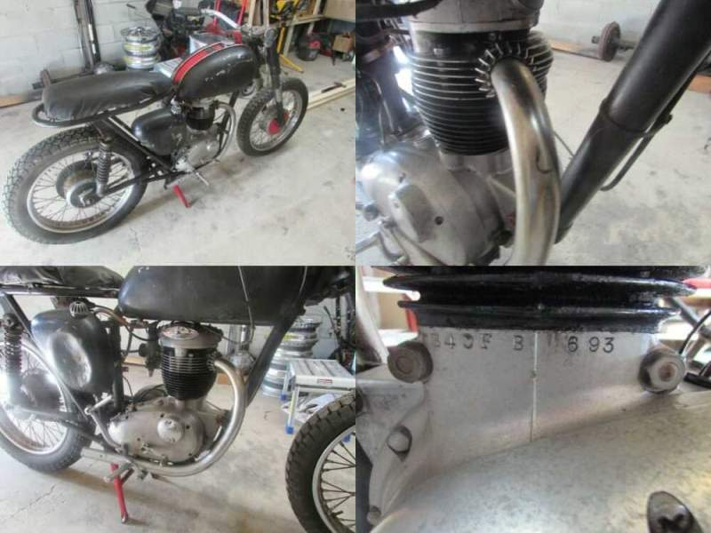 1964 BSA B40 Sportsman Black for sale craigslist photo