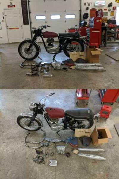1964 BSA Spitfire Red for sale craigslist photo