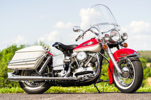 1965 Harley-Davidson FL FLH Panhead Birch White & Red for sale