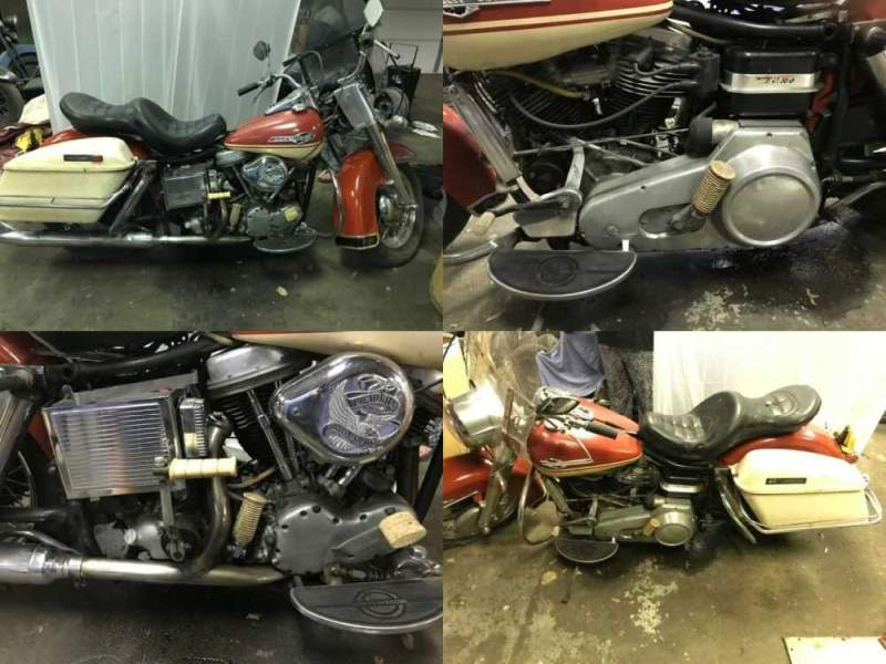 1965 Harley-Davidson FLH Red for sale