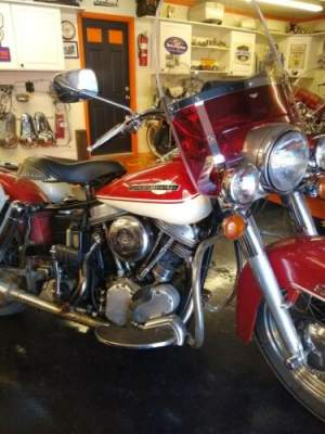 1965 Harley-Davidson FLH Red for sale craigslist photo