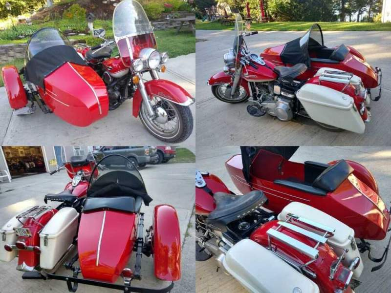 1965 Harley-Davidson Panhead Red for sale craigslist photo