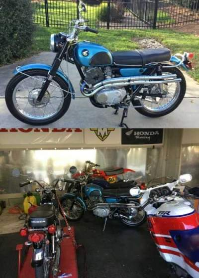 1965 Honda CL Blue for sale craigslist photo