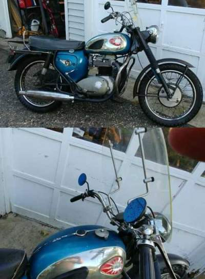 1966 BSA Thunderbolt Blue for sale craigslist photo