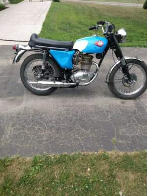 1967 BSA 250 Barracuda Blue for sale craigslist photo
