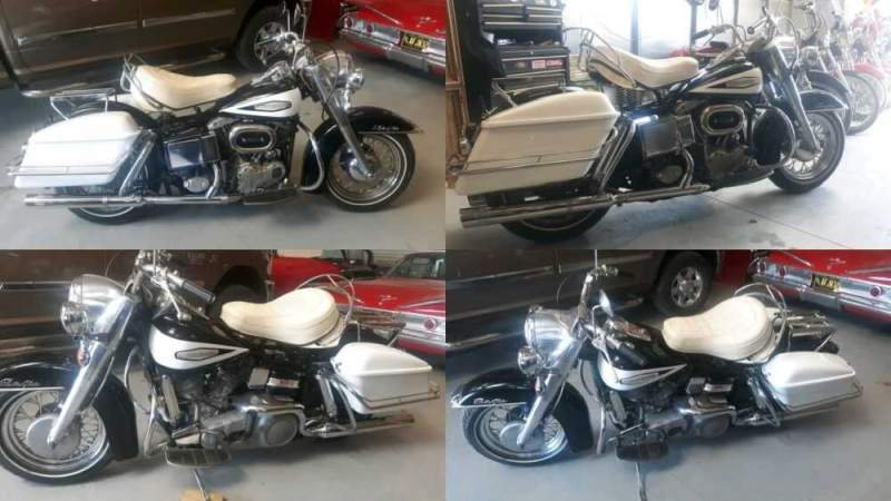 1967 Harley-Davidson FLH Black and Birch White for sale