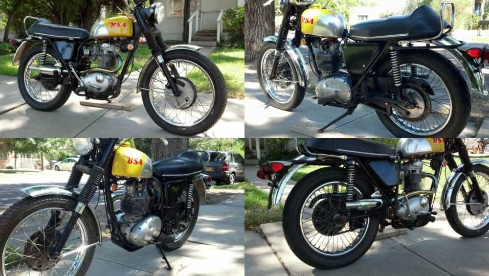 1968 BSA Victor Yellow for sale craigslist photo