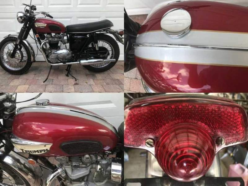 1968 Triumph Bonneville Red for sale craigslist photo