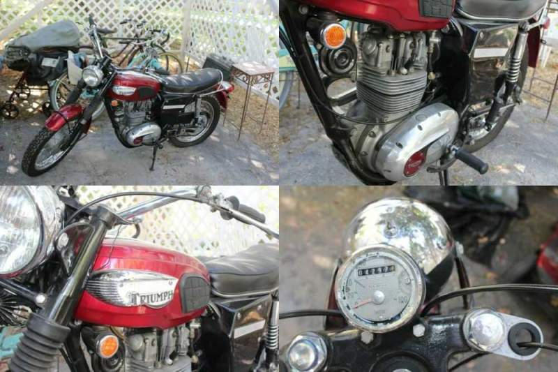 1968 Triumph trophy red for sale