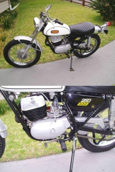 1968 Yamaha 250 Enduro DT1 White for sale craigslist