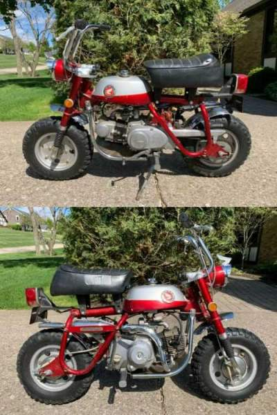 1969 Honda Mini Trail 50 Z50 Z50A Red for sale craigslist