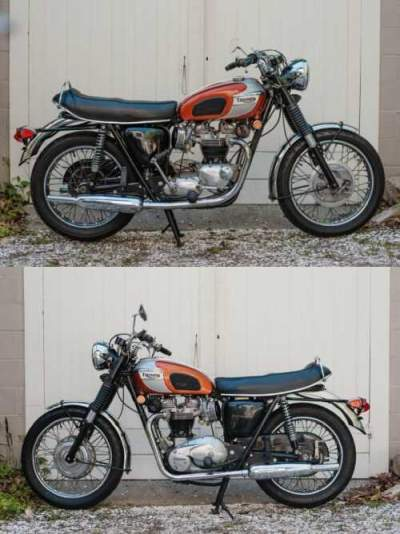 1969 Triumph Bonneville Red for sale