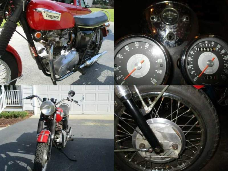 1969 Triumph Tiger Red for sale craigslist