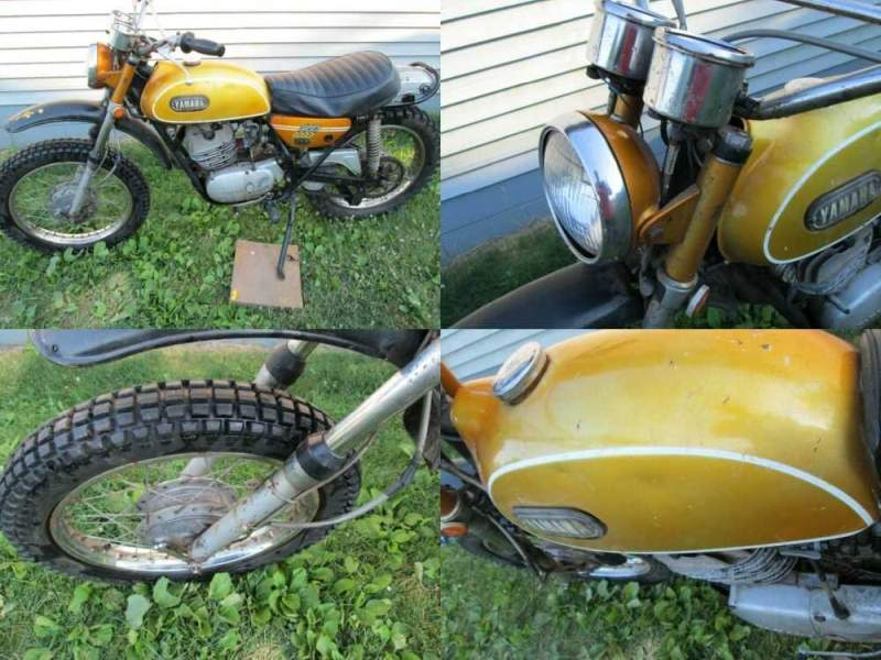 1969 Yamaha 250 Enduro DT1 Gold for sale craigslist photo