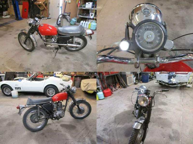 1970 BSA B25S Red for sale craigslist photo
