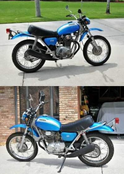 1970 Honda SL 350 Blue for sale