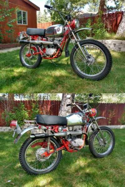 1971 Hodaka Ace 100B+ Red for sale craigslist photo
